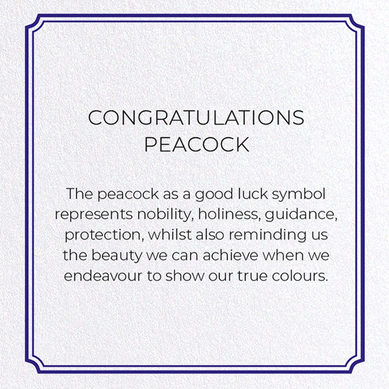 CONGRATULATIONS PEACOCK: 8xCards