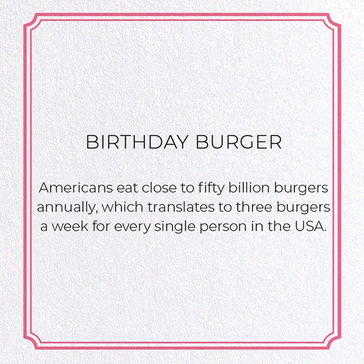 BIRTHDAY BURGER: 8xCards