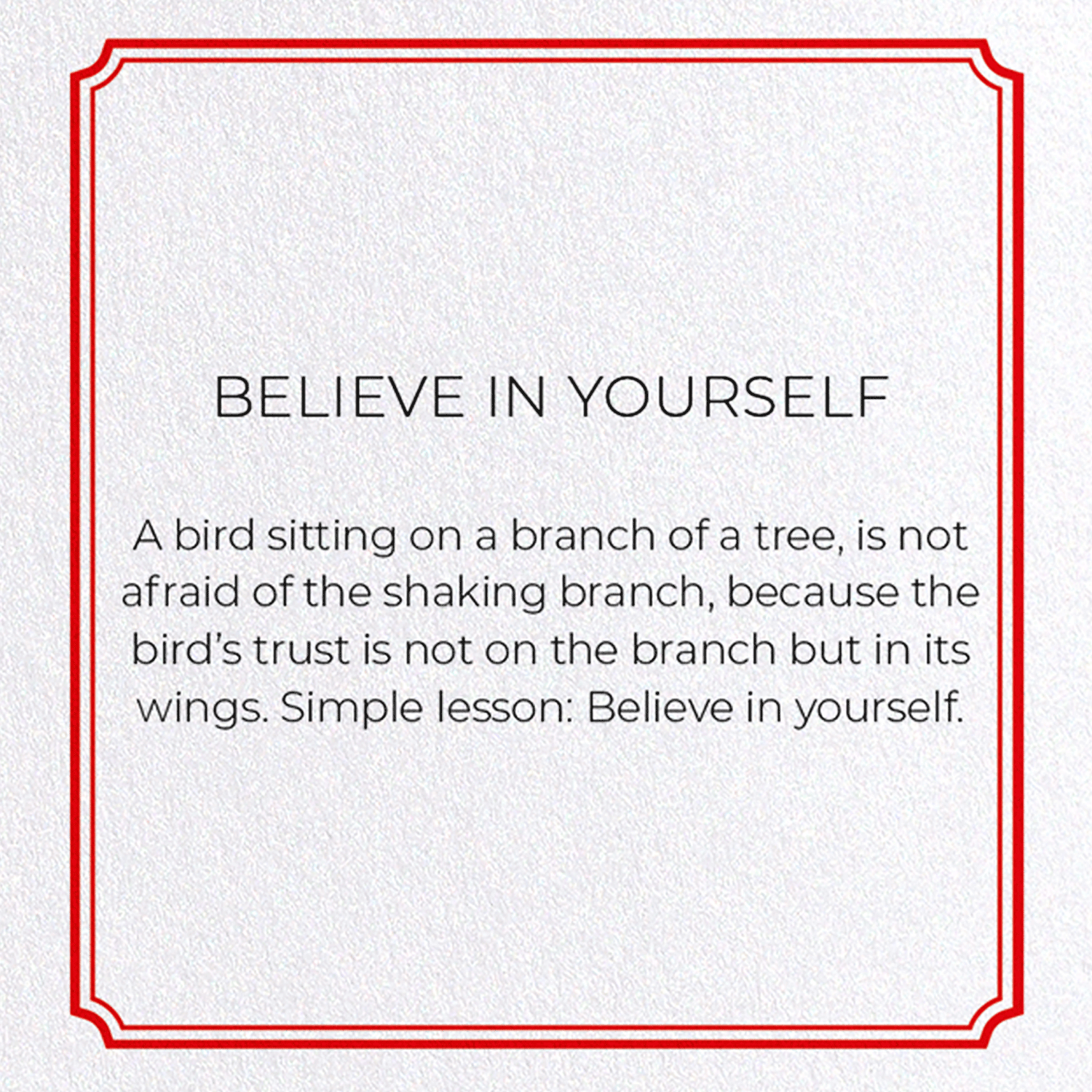 BELIEVE IN YOURSELF: 8xCards