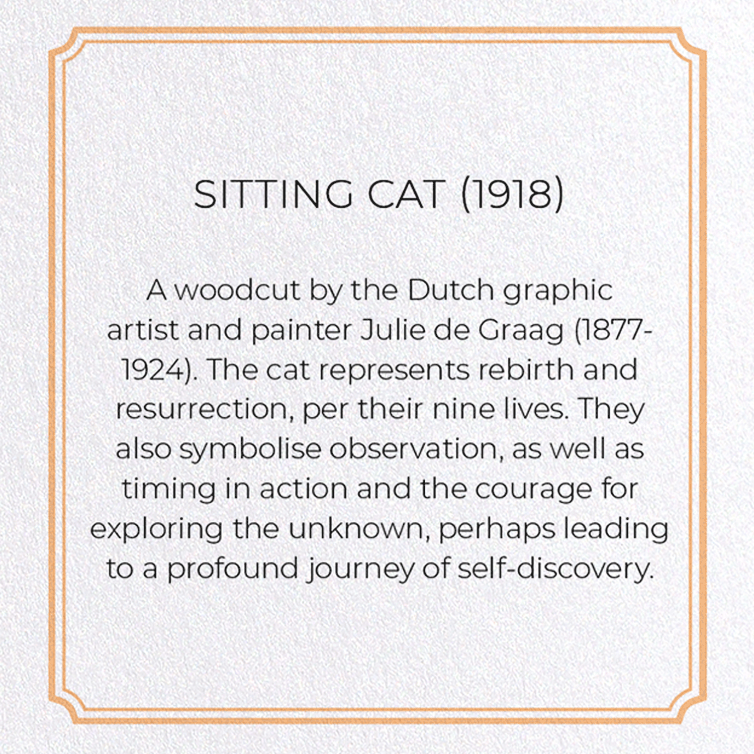 SITTING CAT (1918): 8xCards