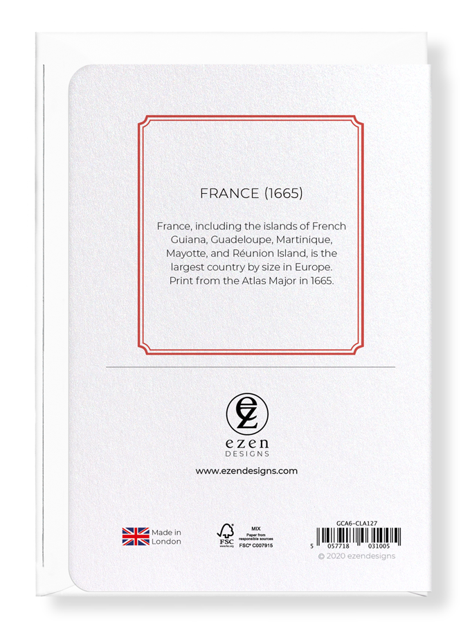 Ezen Designs - France (1665) - Greeting Card - Back