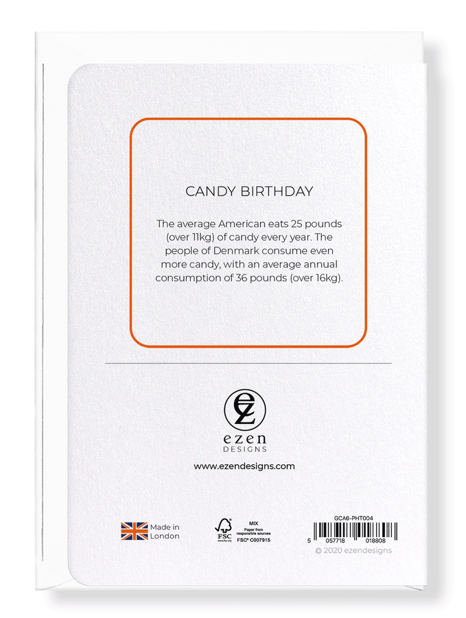 Ezen Designs - Candy birthday - Greeting Card - Back