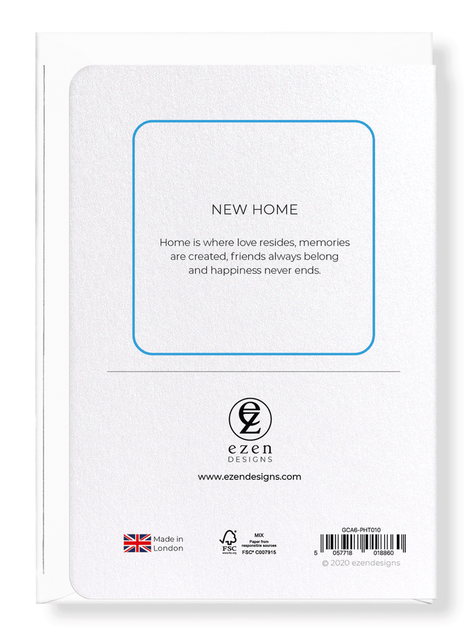 Ezen Designs - New home - Greeting Card - Back