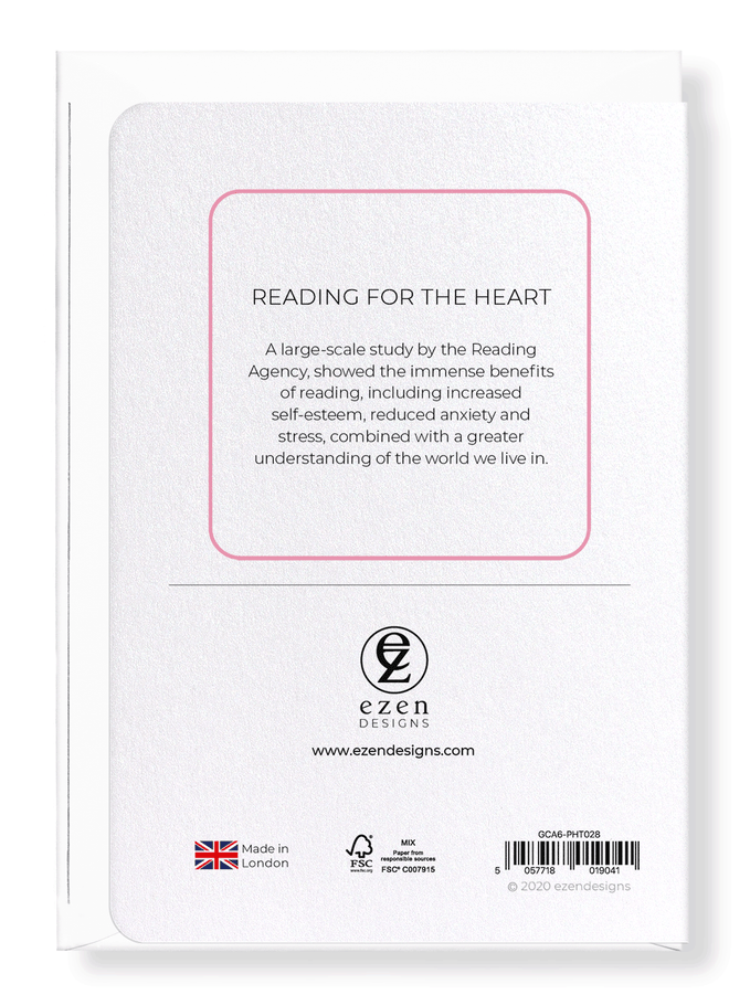 Ezen Designs - Reading for the heart - Greeting Card - Back