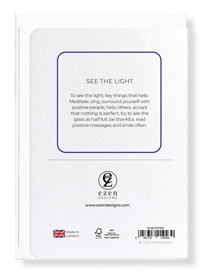 Ezen Designs - See the light - Greeting Card - Back