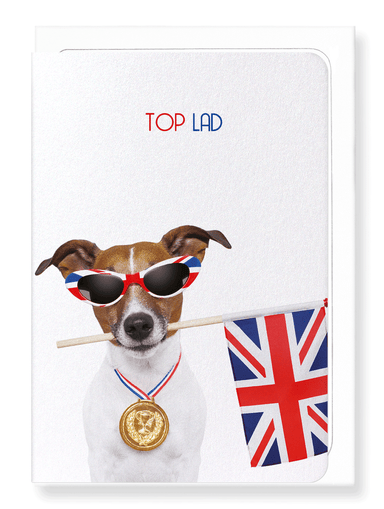 Ezen Designs - Top lad - Greeting Card - Front