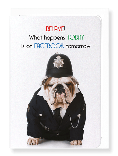 Ezen Designs - Facebook police - Greeting Card - Front