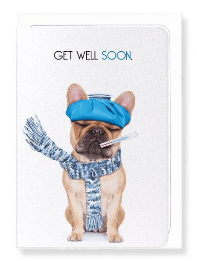 Ezen Designs - Get well soon frenchie  - Greeting Card - Front