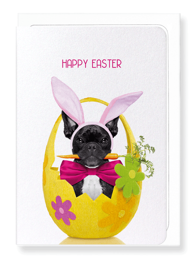 Ezen Designs - Easter Frenchie Bunny - Greeting Card - Front