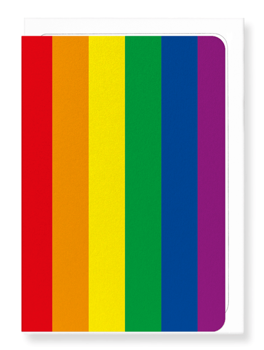 Ezen Designs - LGBT rainbow pride flag - Greeting Card - Front
