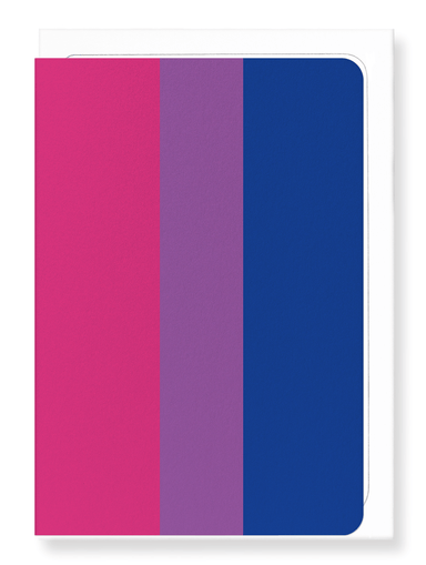 Ezen Designs - Bisexual pride flag - Greeting Card - Front