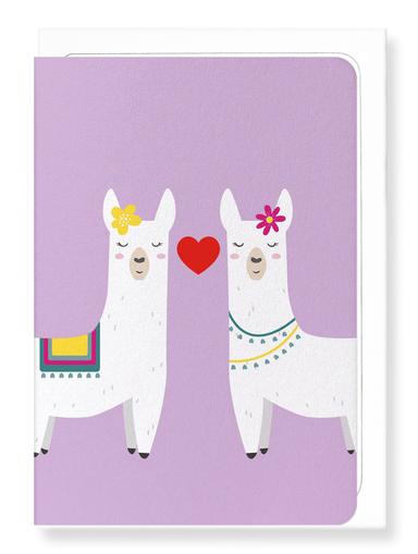 Ezen Designs - Mrs & mrs llamour - Greeting Card - Front