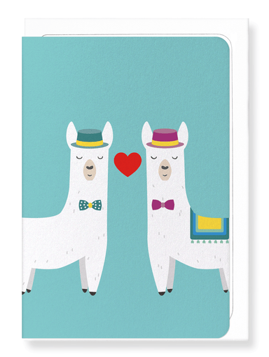 Ezen Designs - Mr & mr llamour - Greeting Card - Front