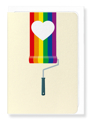 Ezen Designs - PAINT ROLLER RAINBOW - Greeting Card - Front