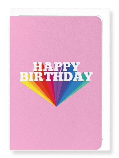 Ezen Designs - Happy birthday in pink - Greeting Card - Front
