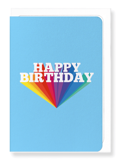 Ezen Designs - Happy birthday in blue - Greeting Card - Front