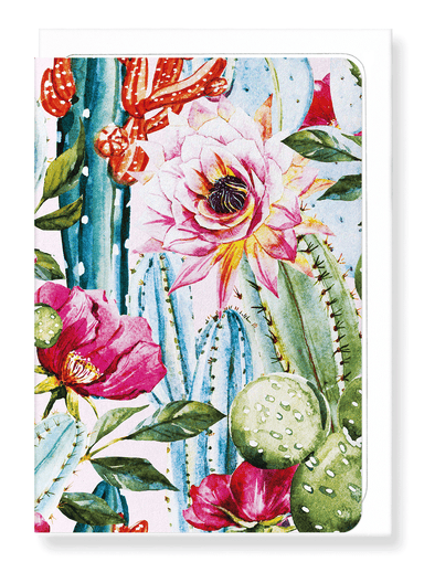 Ezen Designs - Cacti flowers - Greeting Card - Front