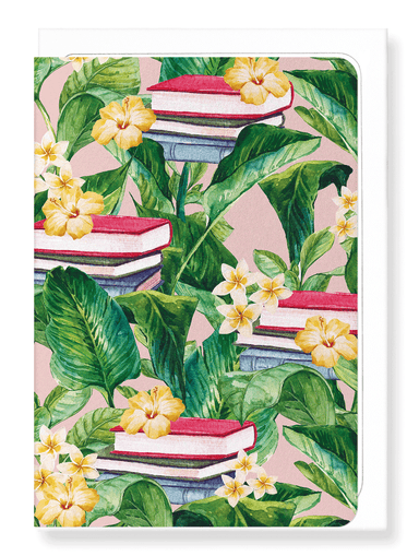 Ezen Designs - Garden of books - Greeting Card - Front