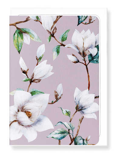 Ezen Designs - Elegant magnolia - Greeting Card - Front