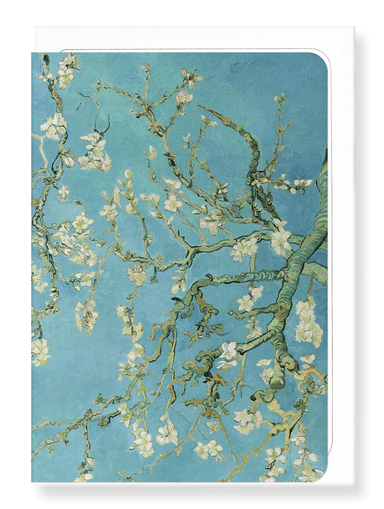 Ezen Designs - Blossoming almond tree by van gogh - Greeting Card - Front
