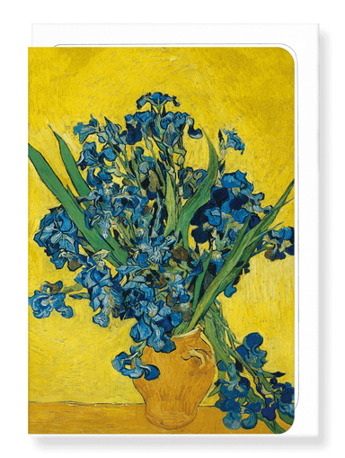 Ezen Designs - Vase with irises by van gogh - Greeting Card - Front