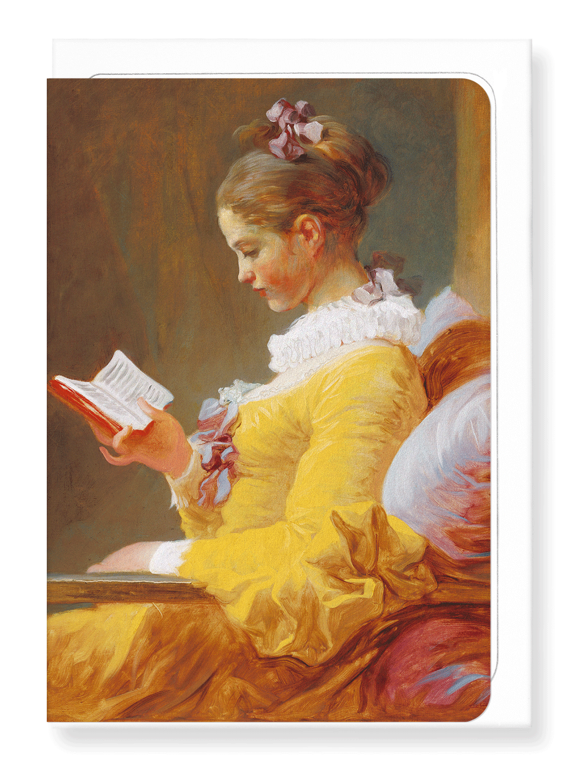 Ezen Designs - Young girl reading c.1769 - Greeting Card - Front