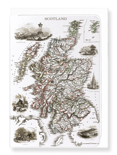 Ezen Designs - Scotland (1851) - Greeting Card - Front