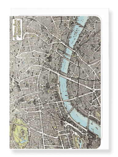 Ezen Designs - London at the close of 19th C - Greeting Card - Front