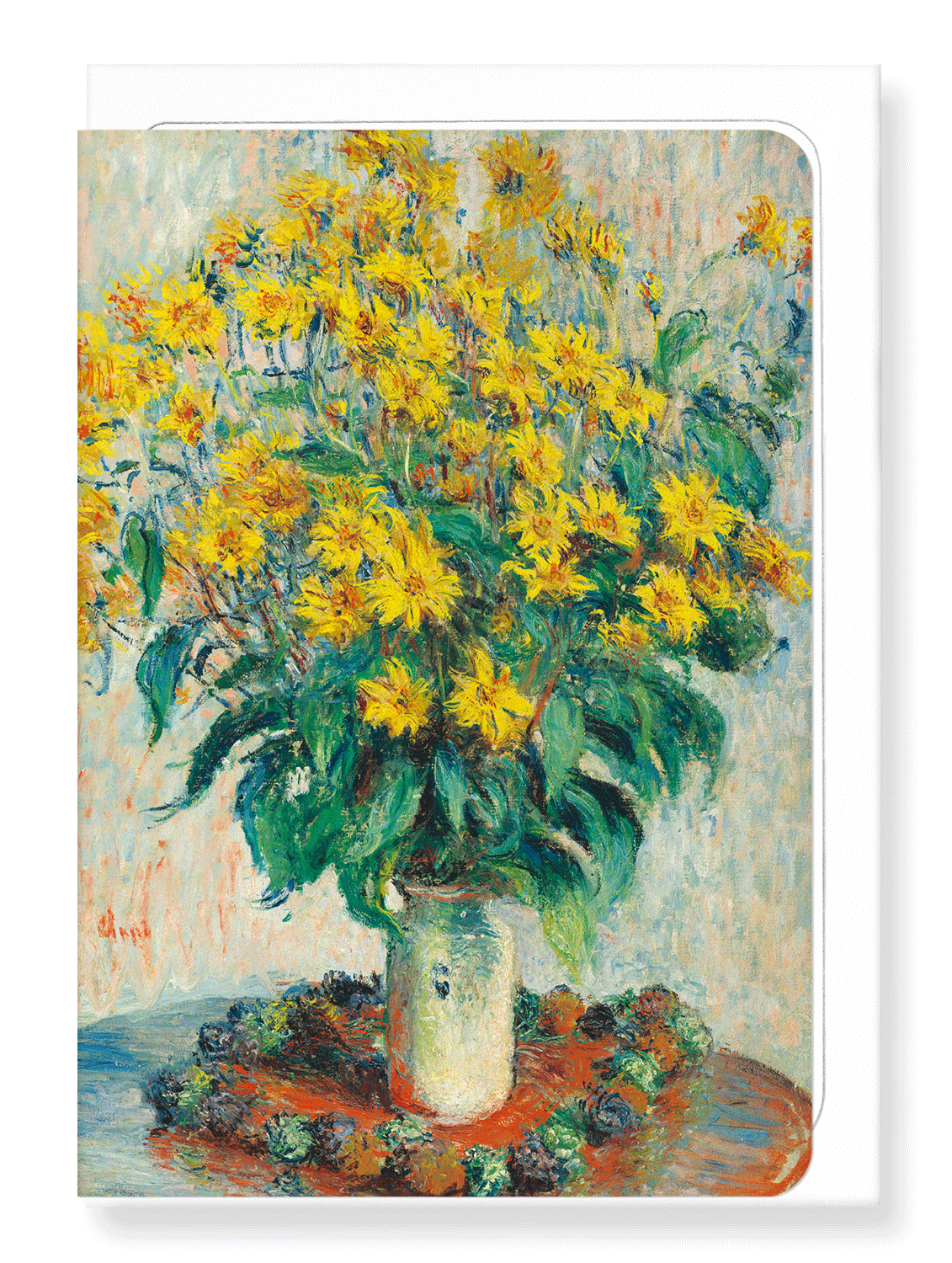 Ezen Designs - Jerusalem artichoke flowers (1880) - Greeting Card - Front