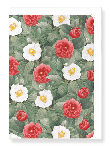 Ezen Designs - Camellia japonica - Greeting Card - Front