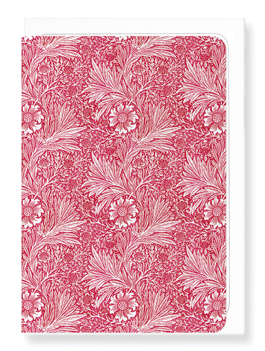 Ezen Designs - Red marigold - Greeting Card - Front