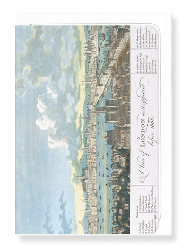 Ezen Designs - London before 1666 - Greeting Card - Front