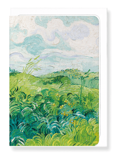 Ezen Designs - Green Wheat Fields Auvers (1890) - Greeting Card - Front