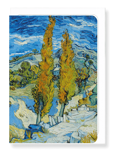 Ezen Designs - The poplars at Saint-Rémy (1889) - Greeting Card - Front