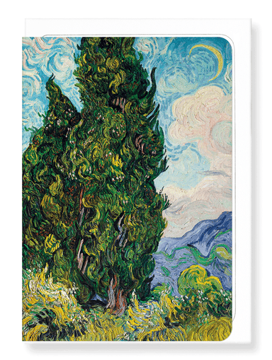 Ezen Designs - Cypresses (1889) - Greeting Card - Front