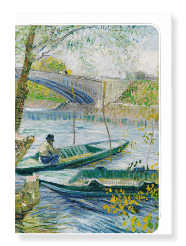 Ezen Designs - Fishing in spring, the Pont de Clichy (Asnières) (1887) - Greeting Card - Front