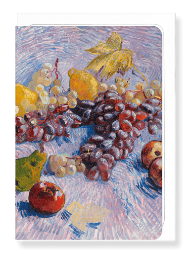 Ezen Designs - Grapes, Lemons, Pears, and Apples (1887) - Greeting Card - Front