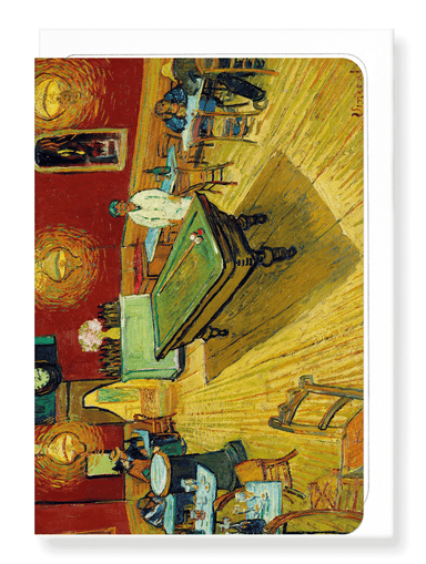 Ezen Designs - Le café de nuit (The Night Café) (1888) - Greeting Card - Front