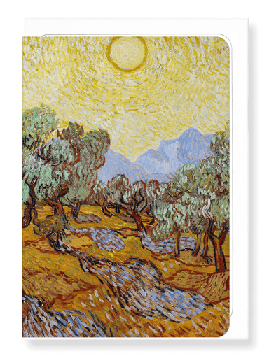 Ezen Designs - Olive Trees (1889) No 2. - Greeting Card - Front