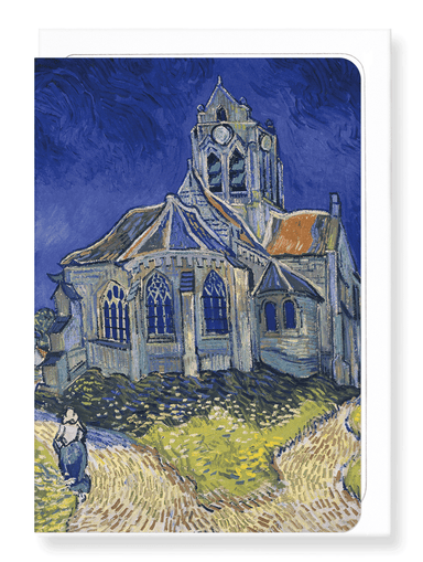 Ezen Designs - Church at Auvers (1890) - Greeting Card - Front