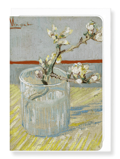 Ezen Designs - Sprig of flowering almond in a glass (1888) - Greeting Card - Front