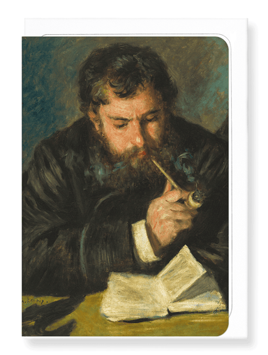 Ezen Designs - Portrait of claude monet (1872) - Greeting Card - Front