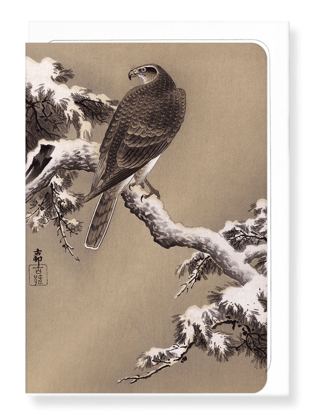 Ezen Designs - Eagle and pine tree - Greeting Card - Front