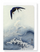 Ezen Designs - Swallow in flight - Greeting Card - Front