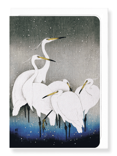 Ezen Designs - Herons in the winter - Greeting Card - Front
