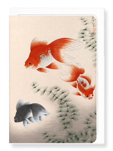 Ezen Designs - Goldfish - Greeting Card - Front