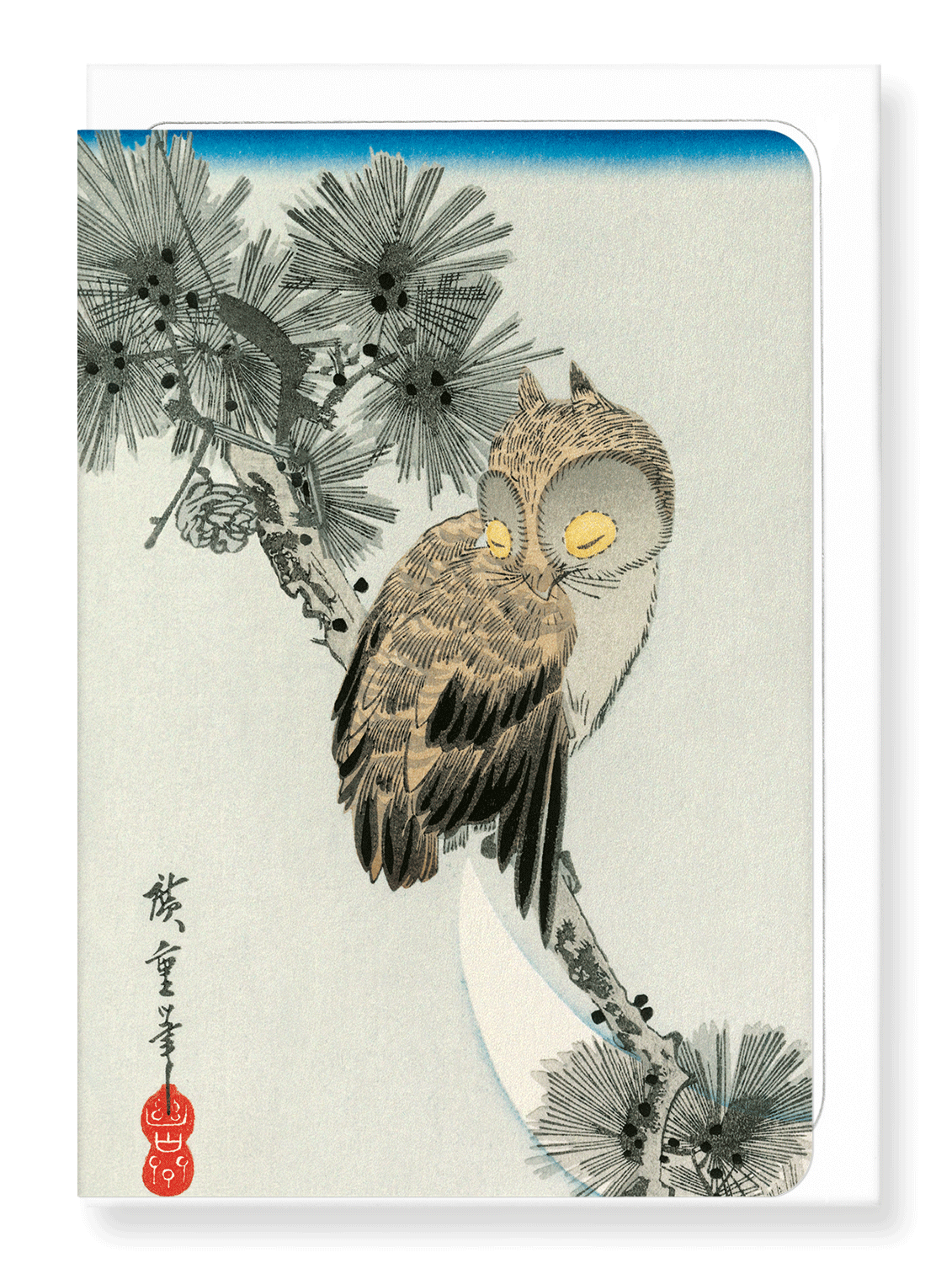 Ezen Designs - Owl - Greeting Card - Front