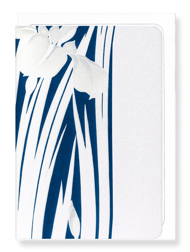 Ezen Designs - Silver iris design - Greeting Card - Front