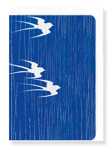 Ezen Designs - Swallows in the rain - Greeting Card - Front