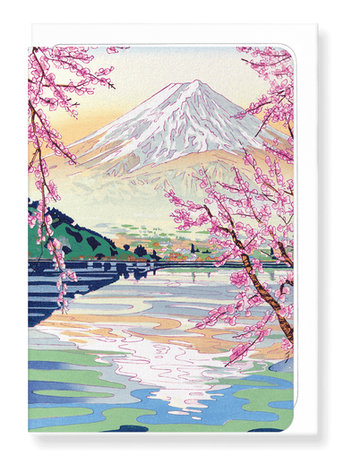Ezen Designs - Mount fuji springtime - Greeting Card - Front